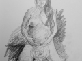 Pregnant life model
